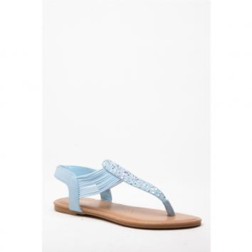 Blue Faux Nubuck Embellished Thong Sandals @ Cicihot Sandals Shoes online store sale:Sandals,Thong Sandals,Women's Sandals,Dress Sandals,Summer Shoes,Spring Shoes,Wooden Sandal,Ladies Sandals,Girls Sandals,Evening Dress Shoes