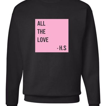 "Harry Styles ""All The Love - H.S Box"" Crew Neck Sweatshirt"