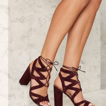 Sam Edelman Yardley Suede Heel - Burgundy