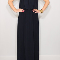 Navy Bridesmaid dress Long navy blue dress Prom dress