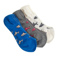 J.Crew Womens Shark No Show Socks Three-Pack