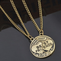 1set Bronze Silver Jewelry Necklace Pendant Friendship Best Friends (Size: 2, Color: Bronze) = 5987857473