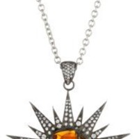 "Colette Steckel ""Galaxia"" 18k Gold Sunburst Pendant with Chain"
