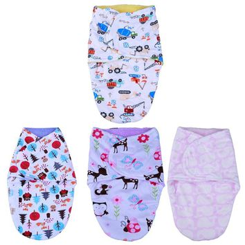 Envelop Newborn Baby Sleeping Bag Winter Warm Blanket Cartoon Pattern Baby Crib Pram Stroller Swaddling Soft Sleeping Bag