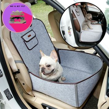 Pet Dog Vintage Retro Car Rides Safety Mattress Side Seat Position Pet Dog Front Seat  Car Rides Cover Protector