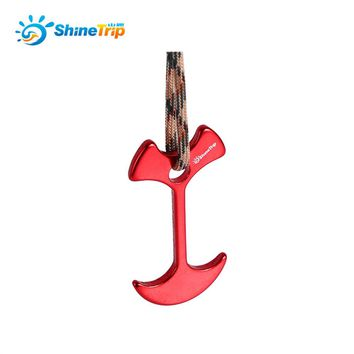 4PCS/ Set Camping Tent Peg Path Deck Board Fishbone Stopper Anchor Tent Peg Windproof Tent Rope Nail Floor Outdoor Travel Hook