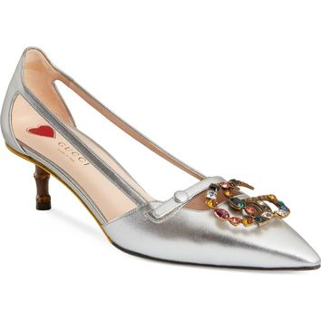 Gucci Unia Embellished Pump (Women) | Nordstrom