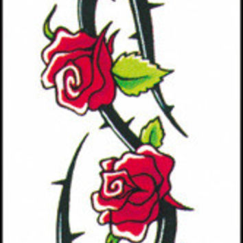 costume accessory: tattoo roses armband Case of 4