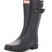 Original Refined Short Boot, Black - Hunter Boot