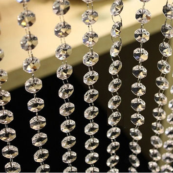 3.3 FT Crystal Clear Acrylic Bead Garland Chandelier Hanging wedding supplies #lsstore1866# = 5987738497
