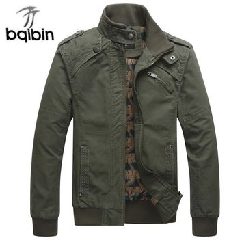 Brand Mens High Quality 4 Colors Military Bomber Jacket Male Spring Casual Coat Army Clothes Outerwear Plus Size 3XL