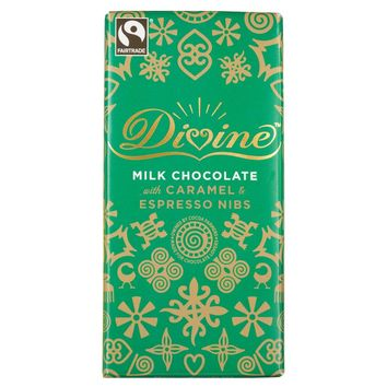Divine Limited Edition Milk Chocolate with Caramel & Espresso Nibs - 100g - Divine Chocolate