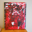 Abstract Painting Red Black and White by Acires on Etsy