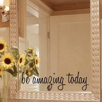 Free Shipping Inspirational Mirror Decal Motivational Wall Sticker On Mirror for home bathroom decor