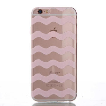 Womens Pink Hollow Out Case Cover for iPhone 5s 5se 6s Plus Free Gift Box 43