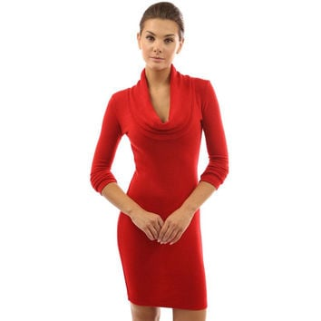 4 Colors New 2016 Autumn Dress Bow Collar Women Sexy Club Bandage Dress Vestidos Long Sleeves Casual Bodycon Mini Dresses M0469