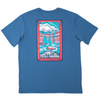 Fayettechill Trippy Falls Tee- Glass Blue