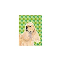 Caroline's Treasures Cocker Spaniel St. Patrick's Day Shamrock House Flag