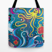 Every Time a Whale Blows Their Spout, a New Dream is Born. Tote Bag by Mat Miller