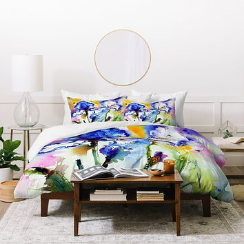 Ginette Fine Art Bearded Irises Duvet Cover