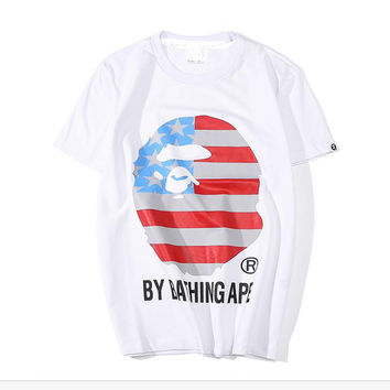 Good Quality Bape Unisex Summer Hot Short Sleeve