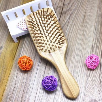 Hot New Design Wooden Combs Paddle Brush Anti-static Comb Air Cushion Health Hair Care Spa Massage Hairbrush Comb Styling Tools