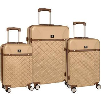 Anne Klein Greenwich Semolina 3-piece Hardside Spinner Luggage Set | Overstock.com Shopping - The Best Deals on Three-piece Sets