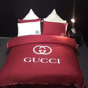 Gucci Duvet cover Blanket Quilt coverlet Pillow shams 4 PC Bedding SET