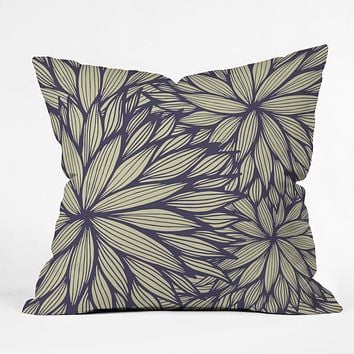 Gabi Blue Dahlia Throw Pillow