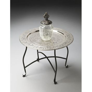 Agadir Metal Moroccan Tray Table by Butler Specialty Company 2866025