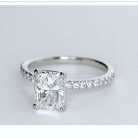 1.76ct Radiant Cut Diamond Engagement Ring G-VS1  JEWELFORME BLUE GIA certified