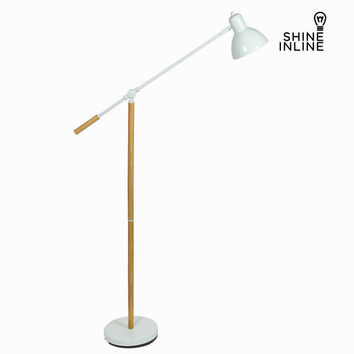 White wooden floor lamp by Shine Inline