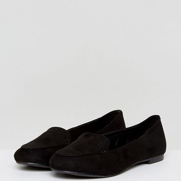 New Look Tab Suedette Slipper Flat Shoe at asos.com