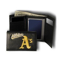 Oakland Athletics MLB Embroidered Trifold Wallet
