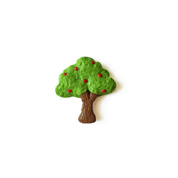 Apple Tree Magnet - Polymer Clay Magnets - Tree Magnet - Nature Magnet - Plant Magnet - Cute Magnet - Green Magnet