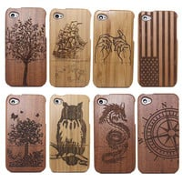 Traditional Bamboo Sculpture Wood Phone Case for iPhone 6 / 6S