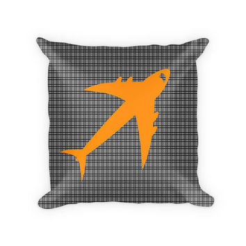 Jet Airplane Children's Cotton/Poly Throw Pillow