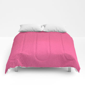 Brink Pink Extrude Comforters by deluxephotos