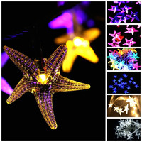 Starfish Shaped Fairy Outdoor Indoor LED String Lights