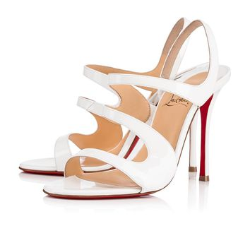 Christian Louboutin Cl Vavazou Latte Patent Leather 18w Sandals 3180456wha8 - Best Online Sale