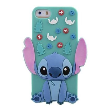LliVEER Cute 3D Cartoon Soft Silicone Back Case Cover Protective For Iphone 6 4.7'' Stitch