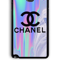 Samsung Galaxy Note 3 Case - Rubber (TPU) Cover with Coco Chanel Holographic Design