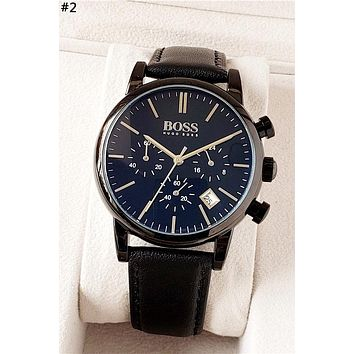 HUGO BOSS new men and women models simple wild quartz watch #2
