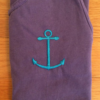 Anchor Embroidered Comfort Colors Tank