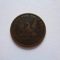 Phoenix Novr 1837 Hard Times Token Substitute for Shin Plasters Specie Payments Suspended May Tenth 1837 US Historical Collectible Item