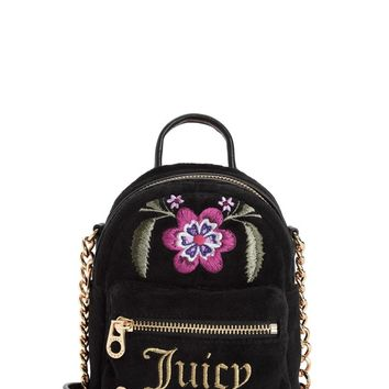 FOLKLORE FLORAL VELOUR MICRO BACKPACK