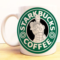 Iron Man Starkbucks Coffee Mug |  Avengers Civil War Starbucks | Disney Marvel