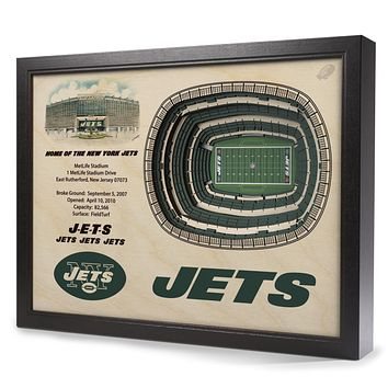 New York Jets 25-Layer StadiumView 3D Wall Art