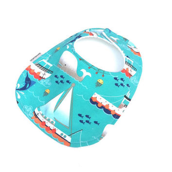 Boys Baby Bib - Blue Baby Bib - Nautical Bib - Bib For Boys - Baby Shower Gift Boy - Sailboat Bib - Boys Baby Bib - Boy Bibs - Baby Bibs