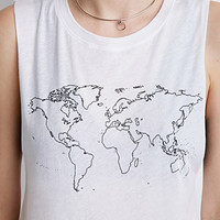 World Map Muscle Tee
